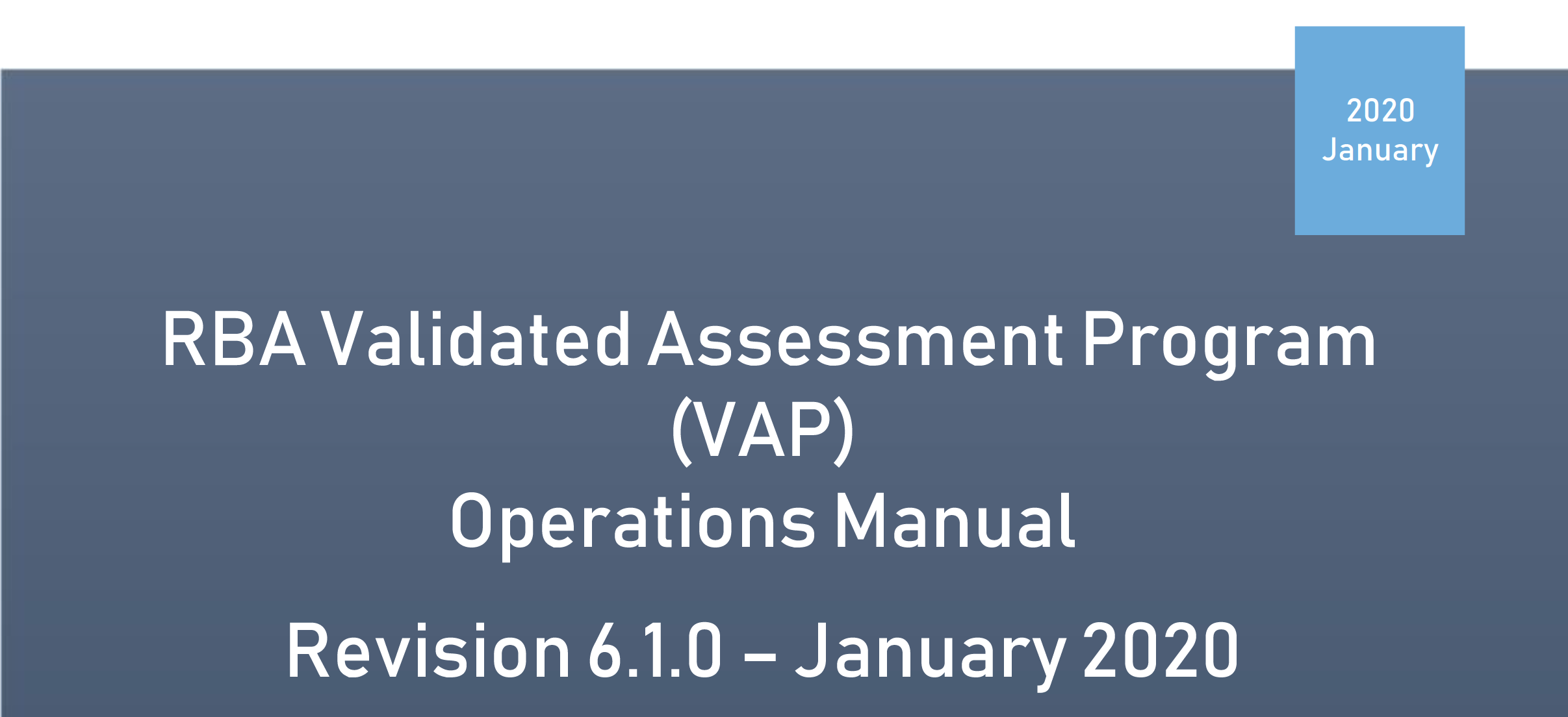 Download RBA VAP Code Interpretation Guidance 6.1.0